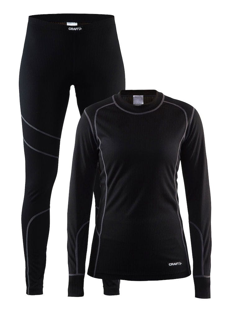 Baselayer Set Svart Dam