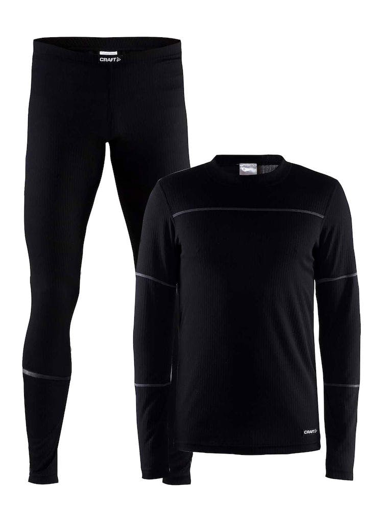 Baselayer Set Svart Herr