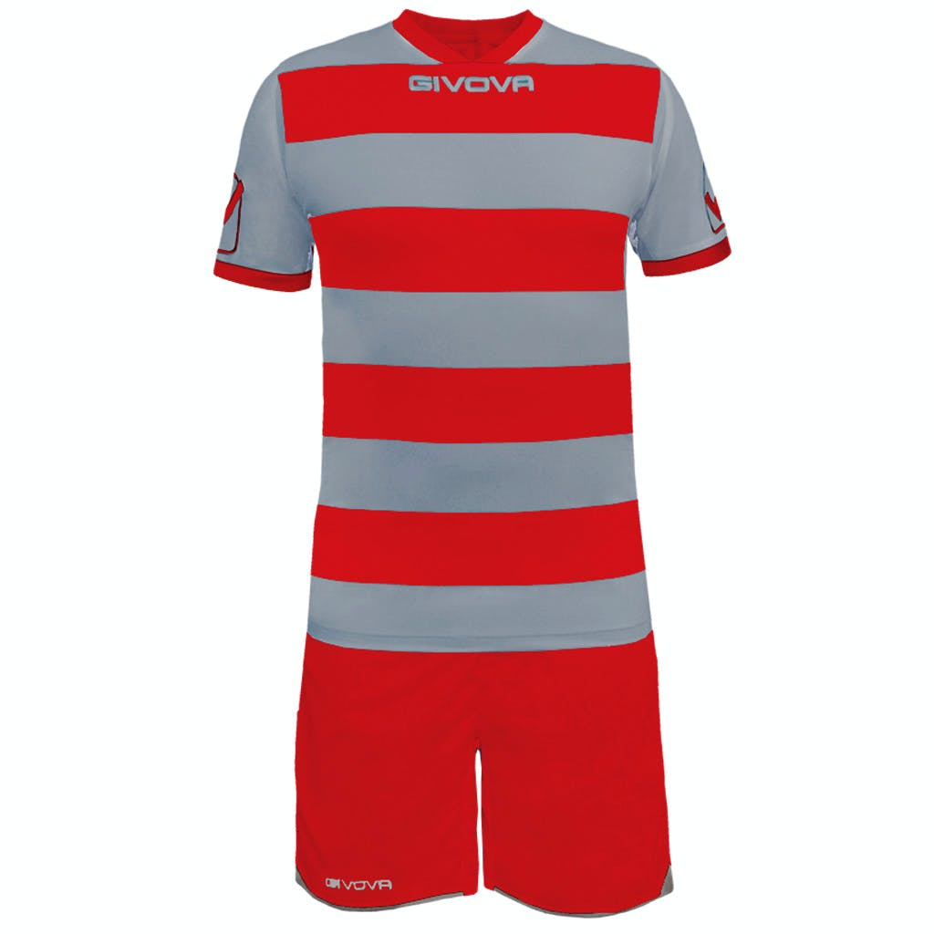 Kit Rugby Grå/Röd