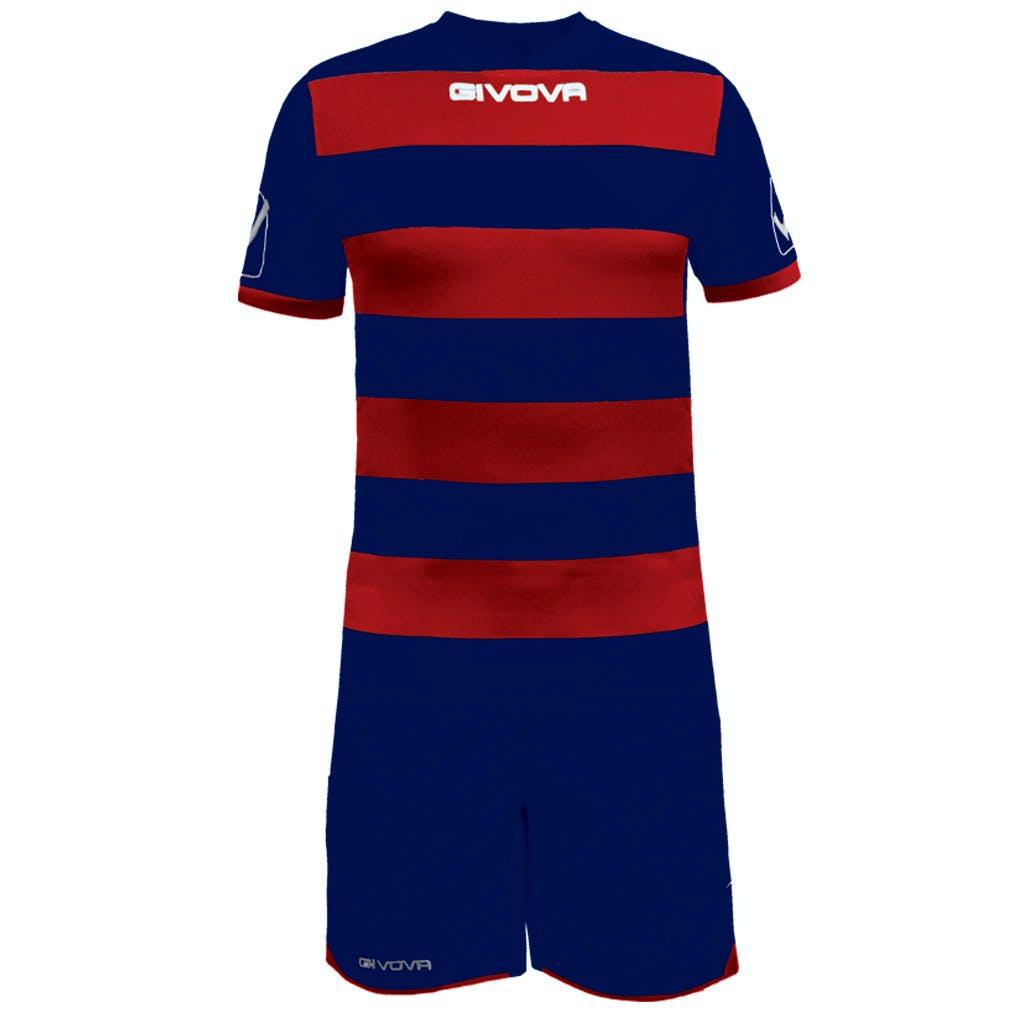 Kit Rugby Mörkblå/Vinröd