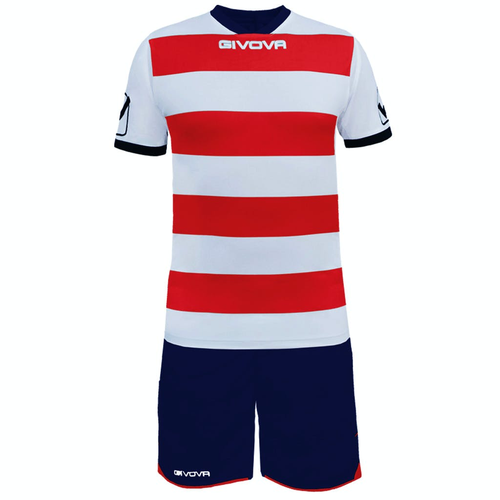 Kit Rugby Vit/Röd
