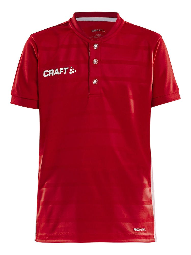 Pro Control Button Jersey Jr Röd