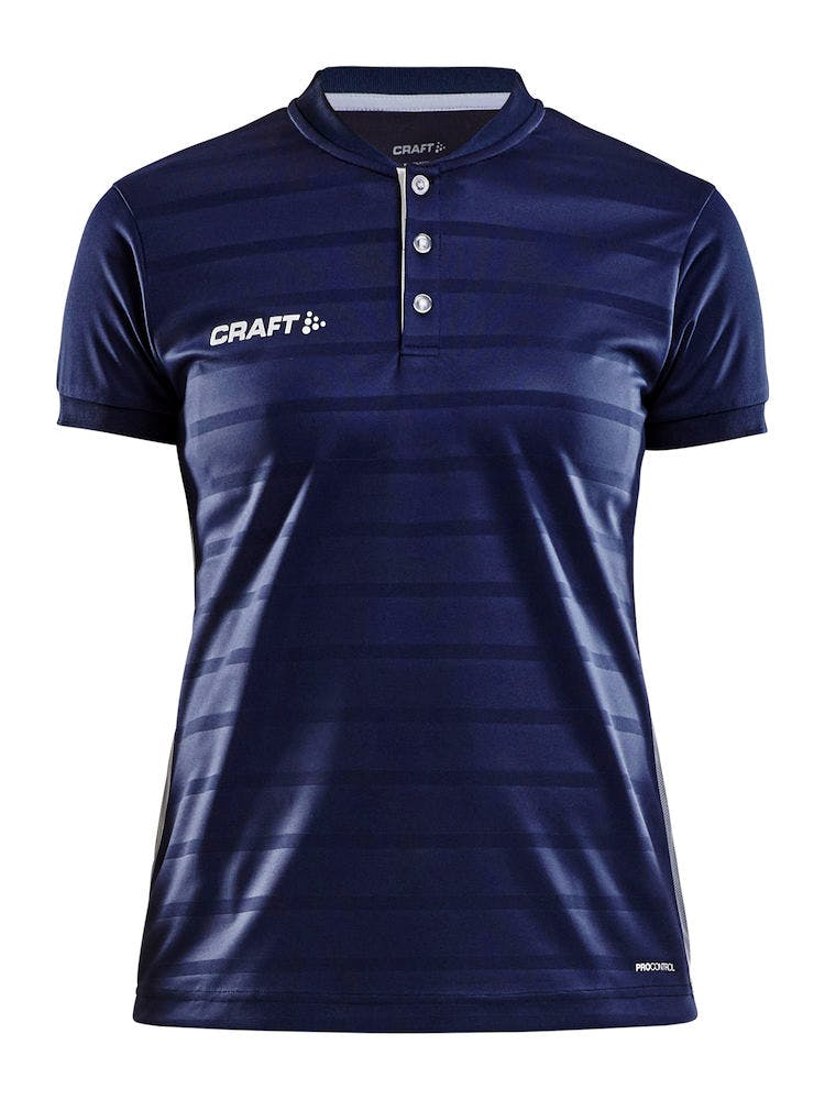 Pro Control Button Jersey W Navy